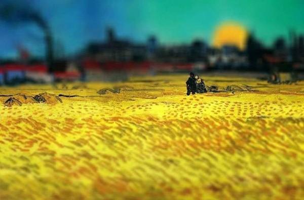 Sunset Wheat Fields Near Arles, 1888
