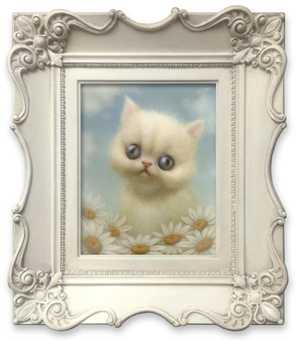 """The Cat Art Show 3"" - KittenWithDaisies-Web"