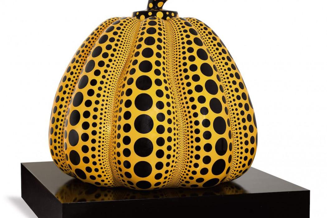 1. Kusama Yayoi - Untitled (Pumpkin Sculpture)