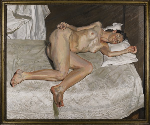 LUCIAN FREUD's late masterpiece Portrait on a White Cover
