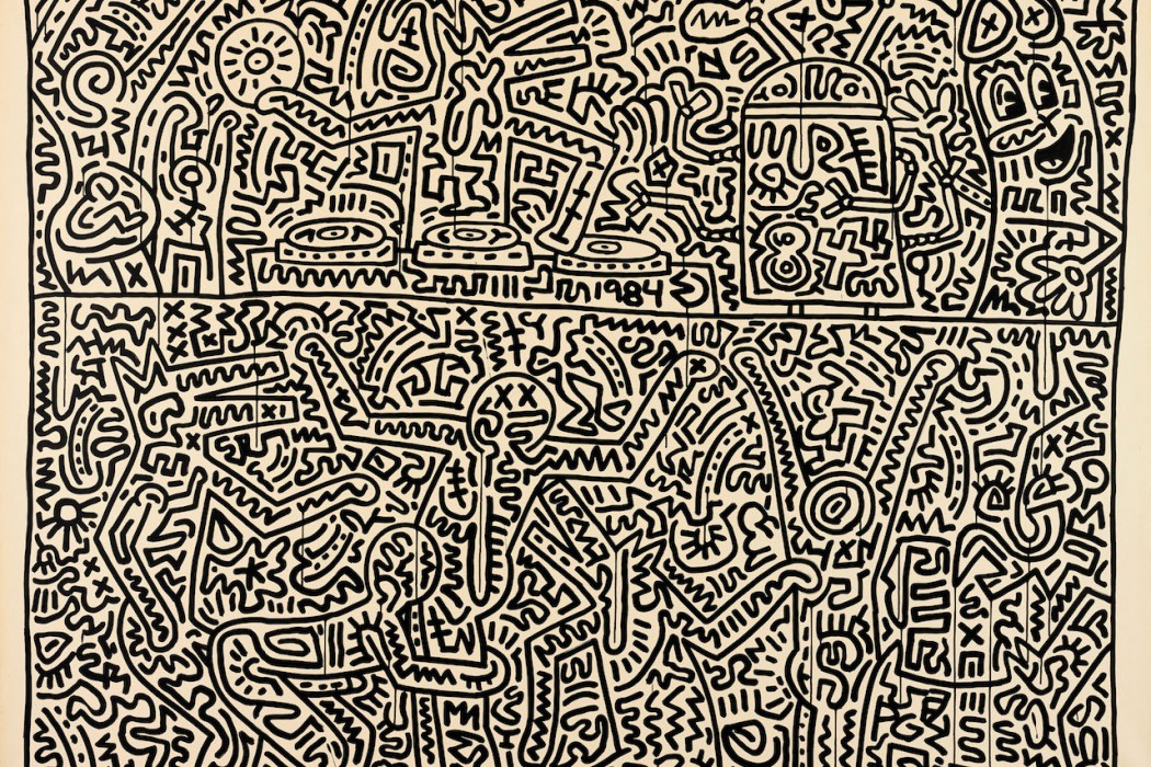 Lot 22, Keith Haring, August 15, 1983 (£1-1.5 million)