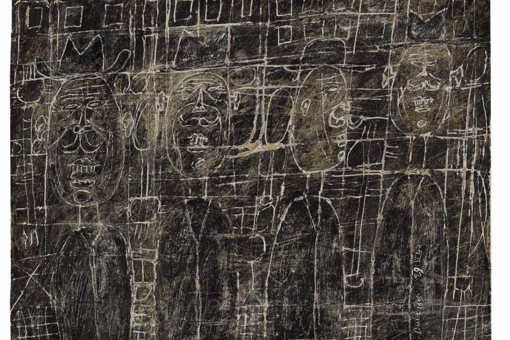 Lot 23, Jean Dubuffet, Quatre Notables, 1944 (£380,000-450,000)