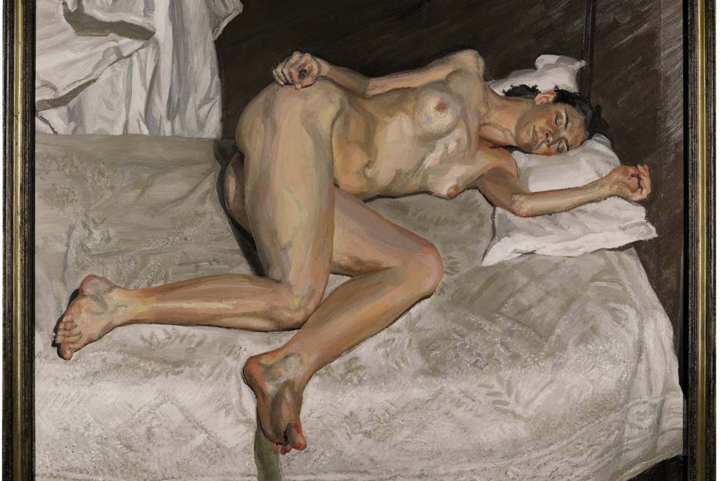 Lot 6, Lucian Freud, Portrait on a White Cover, 2002-03 (est. £17-20 million)
