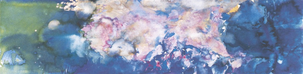 Zao Wou-Ki, Sans titre, 1985, watercolour on paper, 23 x 93cm, private collection. © Zao Wou-Ki - ProLitteris, Zurich