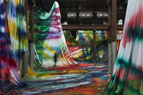 Walk Inside a Warehouse-Sized Kaleidoscopic Painting by Katharina Grosse
