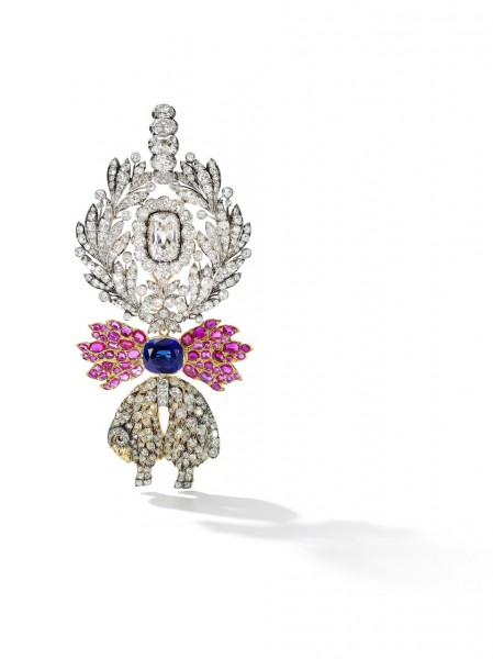A sapphire, ruby and diamond Order of the Golden Fleece, Austria, and a jewelled neck badge, circa 1825 - Sotheby's Geneva 14 Nov 2018