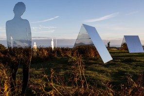 Mirrored Figures Reflect the Natural Landscape of Morecambe Bay
