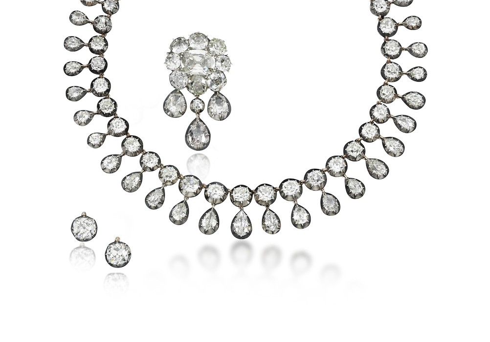 Superb diamond parure - Royal Jewels from the Bourbon Parma Family - Sotheby's 14 November 2018