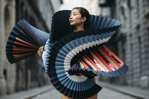 Fashion Statement: Life-Size Dramatic Origami Costumes Worn by Ballet Dancers