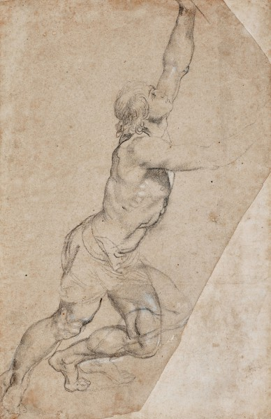 Nude Study of a Young Man with Raised Arms, Rubens