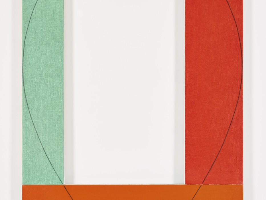 Galerie Greta Meert  Robert Mangold, Frame Painting #4, 1984