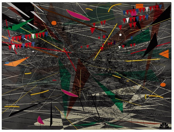 Julie Mehretu, Black Ground (deep light)