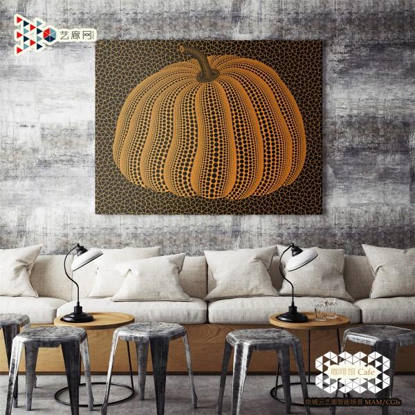 KUSAMA-YAYOI-Pumpkin-(TWPOT)-Cafe-Wall-Scene