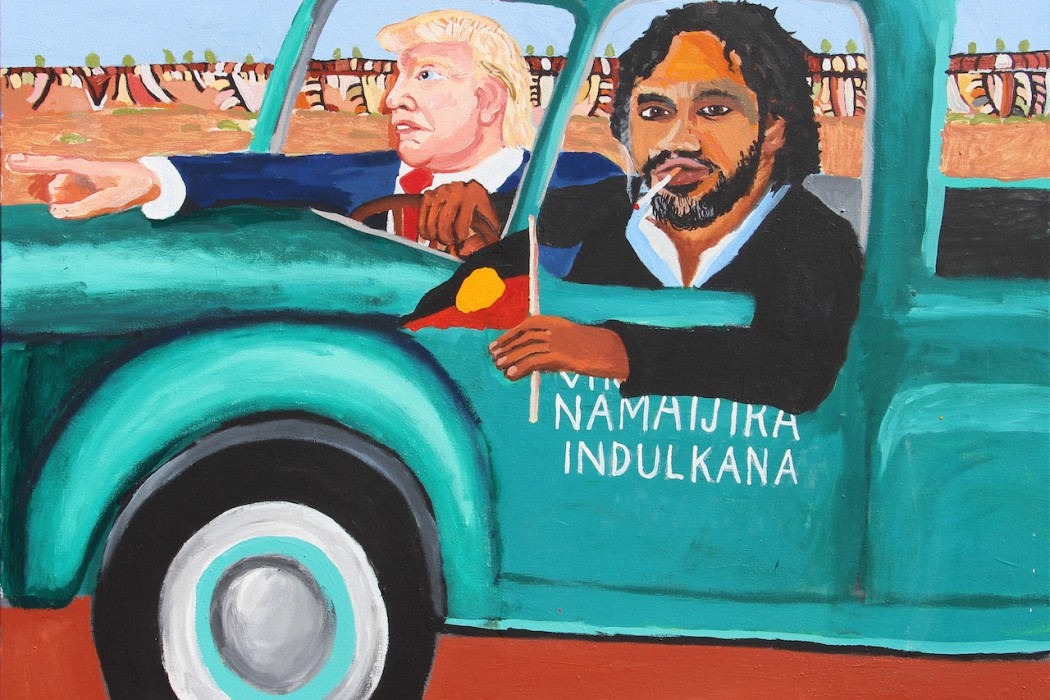 This Is No Fantasy dianne tanzer + nicola stein  Vincent Namatjira, Vincent & Donald (Indulkana), 2018