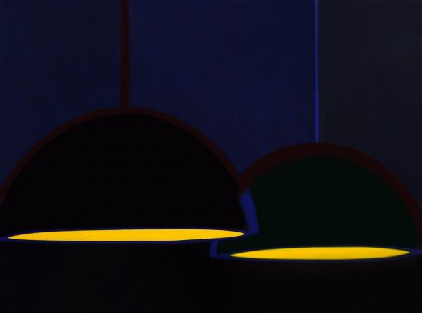 高润生 两盏吊灯 布面油画 2000mmx1500mm 2019 1幅