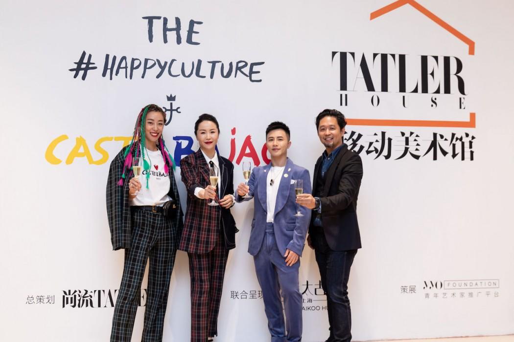 Castelbajac中国区代表Anna Jin小姐,《尚流Tatler》商业及品牌发展总经理 邓堪先生与知名时尚博主毛毛迅,粉红霏菲